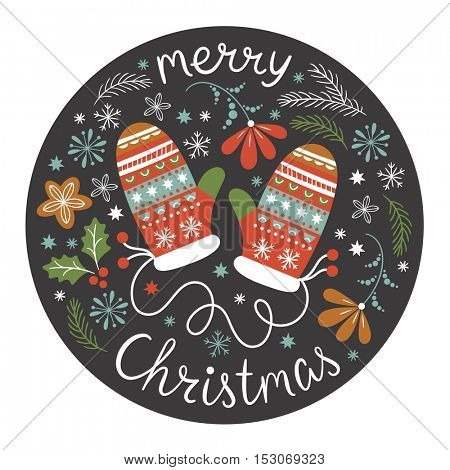 Christmas illustration, Christmas card