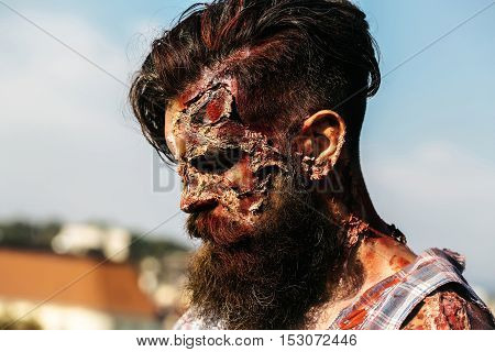 Bearded Zombie Man