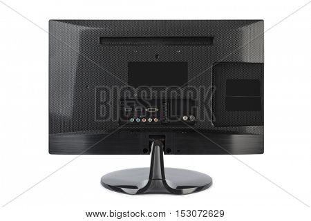 TV rear view isolated on white background