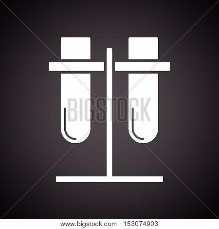 Lab Flasks Attached To Stand Icon