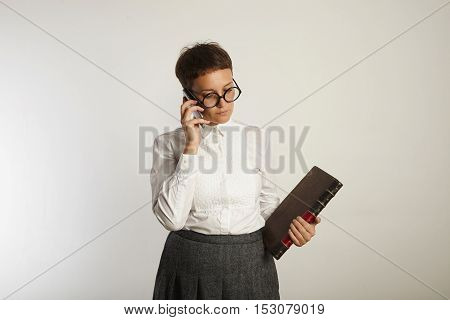 Funny Teacher Speaking On Mobile Phone