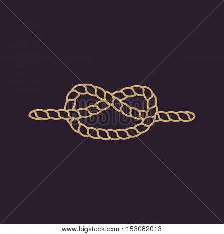The knot icon. Node and tie, rope symbol. Flat Vector illustration