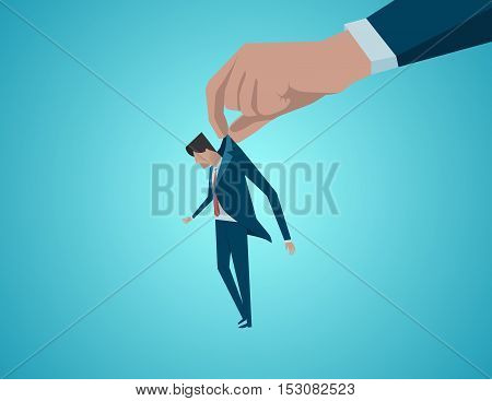 Concept Of A Failure Of A Businessman. Concept Business Illustration. Vector Flat