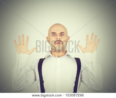 Bald Man Feels Awkward, Anxiously Isolated.