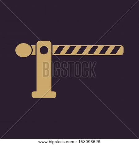 The barrier icon. Roadblock and borderline, stop, railroad crossing symbol. Flat Vector illustration
