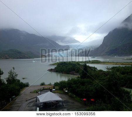 A Wet Day At Mendenhall Glacier, Juneau, Alaska.