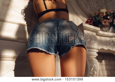 Youth Fashion Body Buttocks Sex Seduction Concept