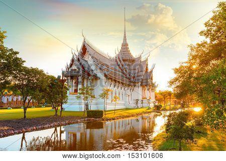 Bangkok, Thailand - December 30 2015: Sanphet Prasat Palace, One Of The Most Beautiful Ancient Thai