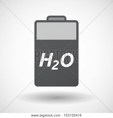 Isolated  Battery Icon With    The Text H2O