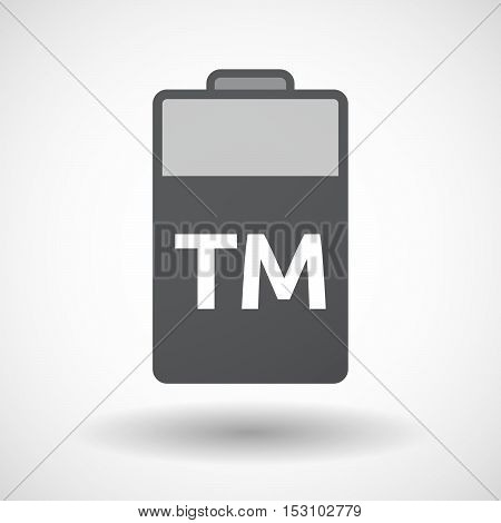 Isolated  Battery Icon With    The Text Tm