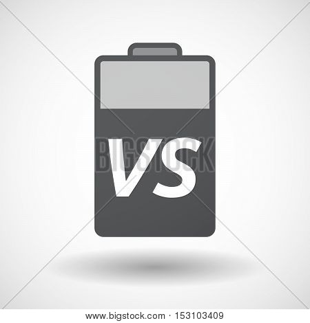Isolated  Battery Icon With    The Text Vs