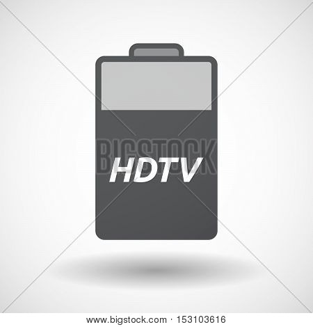 Isolated  Battery Icon With    The Text Hdtv