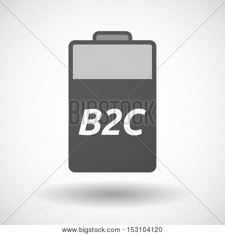 Isolated  Battery Icon With    The Text B2C