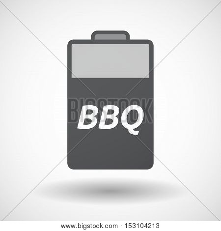 Isolated  Battery Icon With    The Text Bbq