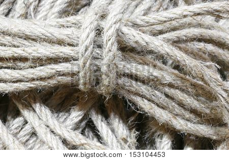 Background Of Many Skeins Of Raw Strings