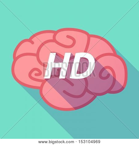 Long Shadow Pink Brain Icon With    The Text Hd