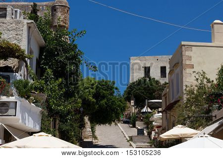 Rethymno, Greece. July  26. 2016: Street Shops On The Way To Fortezza.