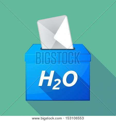 Long Shadow Ballot Box With    The Text H2O