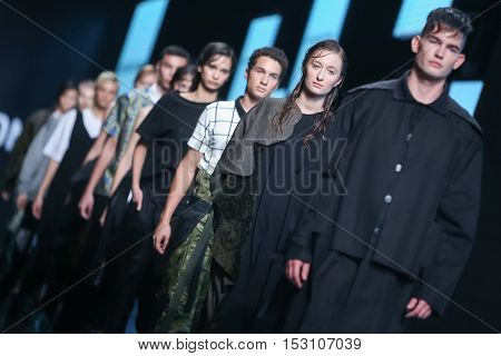 Bipa Fashion.hr Fashion Show: Gala Vrbanic, Zagreb, Croatia.