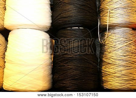 Skeins Of Colored Wool Threads