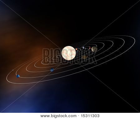 Diagram Of Our Solar System With Planets