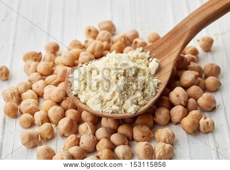 Spoon Of Chick Peas Flour