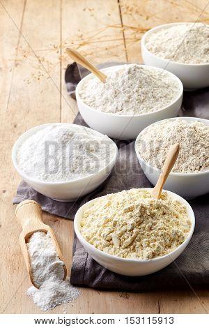 Bowls Of Gluten Free Flour
