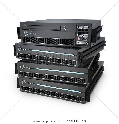 Four server unit (done in 3d rendering)