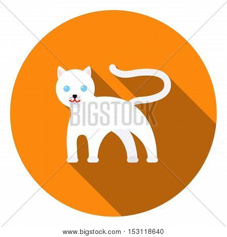 Panther icon in flat style isolated on white background. Animals symbol vector illustration.