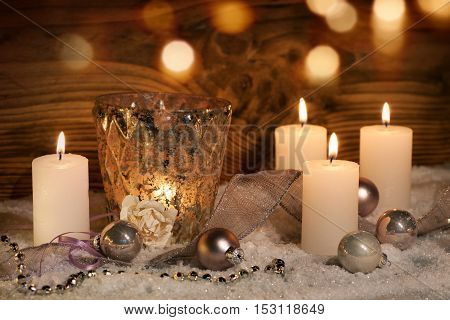 Christmas decoration with candles for celebratory moments