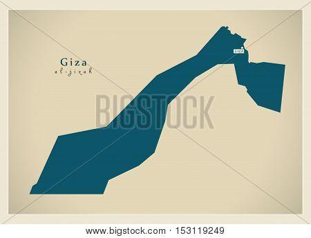 Modern Map - Giza EG vector high res