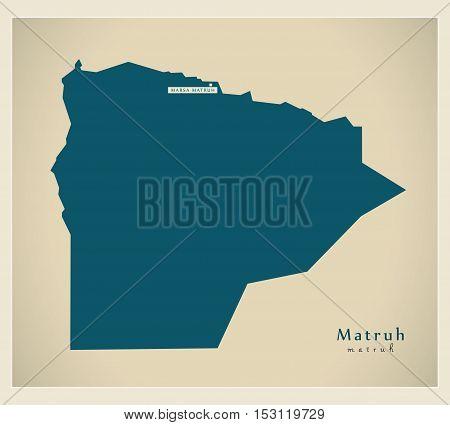 Modern Map - Matruh EG vector high res