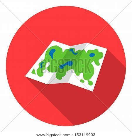 Map icon in flat style isolated on white background. Camping symbol vector illustration.