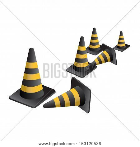 Vector traffic Cones on white background - illistration
