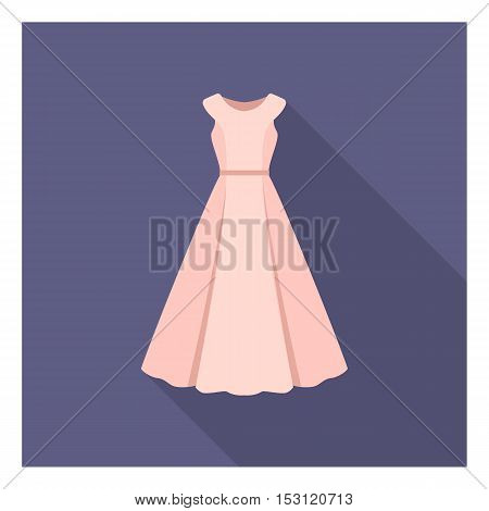 Dress icon in flat style isolated on white background. Clothes symbol vector illustration.