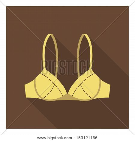 Bra icon in flat style isolated on white background. Clothes symbol vector illustration.