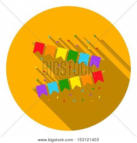 Flags icon in flat style isolated on white flat. Gay symbol vector illustration.