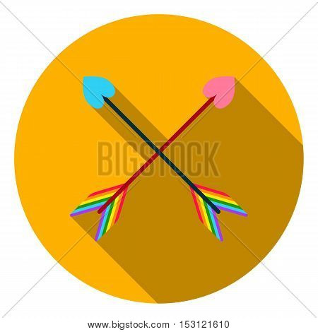 Arrow icon in flat style isolated on white flat. Gay symbol vector illustration.