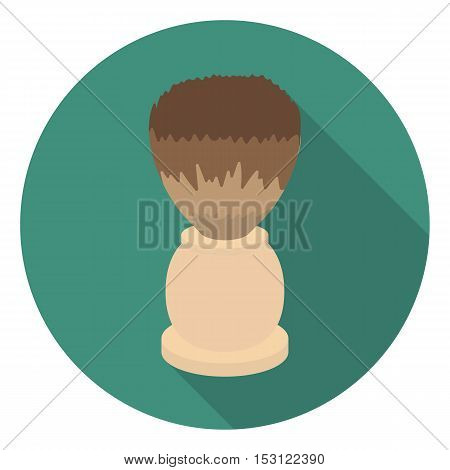 Shaving brush icon in flat style isolated on white background. Hairdressery symbol vector illustration.
