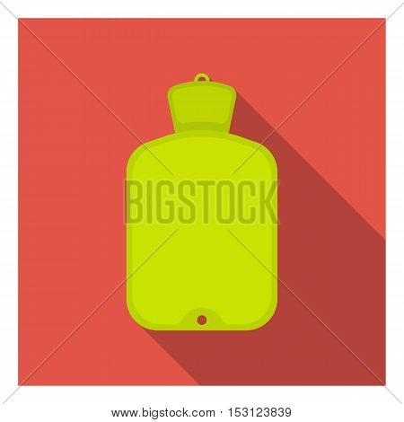 Warmer icon in flat style isolated on white background. Medicine and hospital symbol vector illustration.