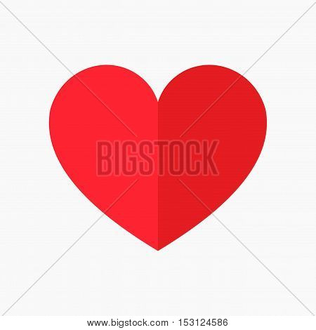 Red heart icon illustration isolated. Graphic desgin