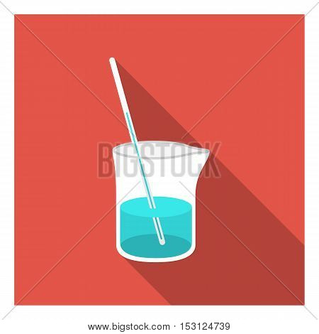 Mixture icon in flat style isolated on white background. Medicine and hospital symbol vector illustration.