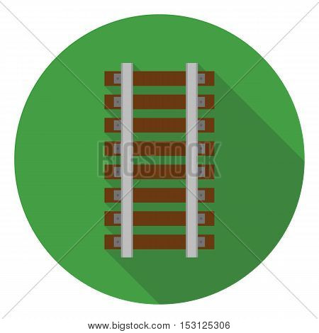 Mine railway icon in flat style isolated on white background. Mine symbol vector illustration.