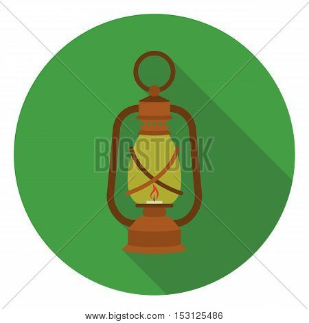 Lantern icon in flat style isolated on white background. Mine symbol vector illustration.