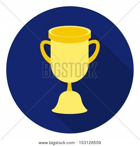 Goblet icon in flat style isolated on white background. School symbol vector illustration.