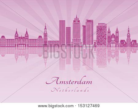 Amsterdam V2 Skyline In Purple Radiant Orchid