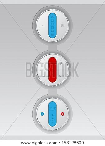 Digital air conditioning control panel combo in white with color lcd display