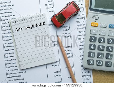 Planning Car payment , Finance concept, business