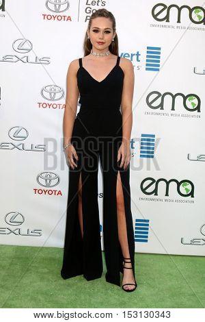 LOS ANGELES - OCT 22:  Brec Bassinger at the 26th Annual Environmental Media Awards at Warner Brothers Studio on October 22, 2016 in Burbank, CA