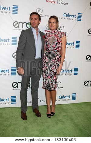 LOS ANGELES - OCT 22:  Philippe Cousteau Jr, Ashlan Gorse at the 26th Annual Environmental Media Awards at Warner Brothers Studio on October 22, 2016 in Burbank, CA